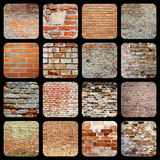 Collection of brick wall textures Stock Image