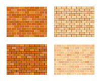 Collection of bricks different color on white  background Royalty Free Stock Photo