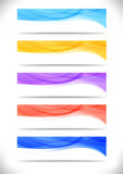 Collection of bright abstract web banners Royalty Free Stock Photography