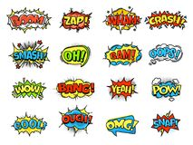 Collection of bright, colorful, multi-colored speech bubbles, with text, texture. Collection of bright, colorful, multi-colored speech bubbles, with text and Royalty Free Stock Images