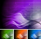 Collection of bright technical backgrounds Stock Photography