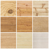 Collection of bright wood textures Royalty Free Stock Photography