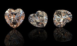 Collection brilliants.Cognac diamond Stock Photography