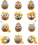 Collection of Broken and Smashed Cartoon Eggs. A Collection of Broken and Smashed Cartoon Eggs Royalty Free Stock Image