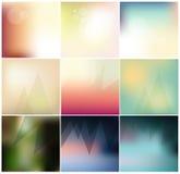 Collection brouillée par vecteur minimal abstrait de fond de concept Image stock