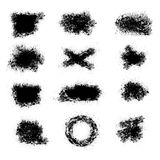 Collection of brush strokes, ink vector elements, spray paint Royalty Free Stock Photography