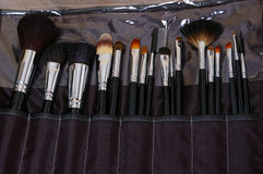 Collection brushes for make-up Stock Photo