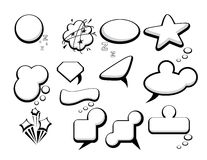 Set of bubble speech icons Royalty Free Stock Photography