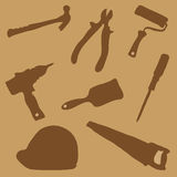Collection building tools Royalty Free Stock Photography