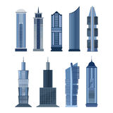 Collection of buildings for city design. Vector Stock Photo