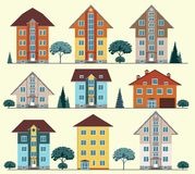 Collection of buildings and houses, vector Royalty Free Stock Photography