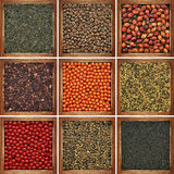 Collection of bulk products Royalty Free Stock Image