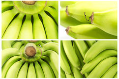 Collection of  Bunch of bananas  Macro shot Royalty Free Stock Images