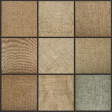 Collection of burlap texture background, close up. Stock Photography