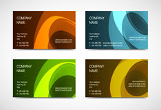 Collection business card Royalty Free Stock Image