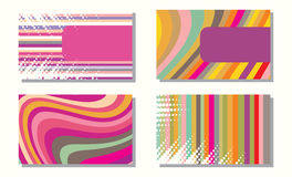 Collection of business cards Royalty Free Stock Photo
