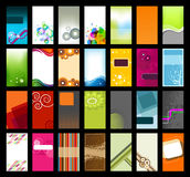 Collection of Business Cards. Collection of 28 Colorful Business Cards Royalty Free Stock Photos