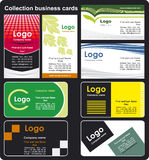Collection business cards Stock Image