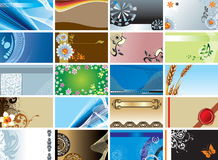 Collection for business cards Stock Image