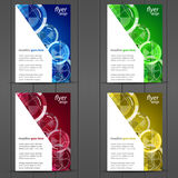 Collection of business flyer template, cover design Royalty Free Stock Image