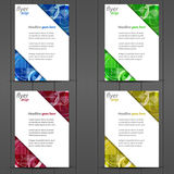 Collection of business flyer template, cover design Stock Photography
