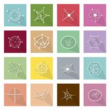 Collection of 16 Business Geometry Chart Banner Royalty Free Stock Images