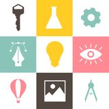 Collection of business icon graphics Royalty Free Stock Photos