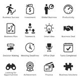 Collection of Business Icons - Set 1. Business icons, great for presentations, web design or any type of design projects Royalty Free Stock Photography