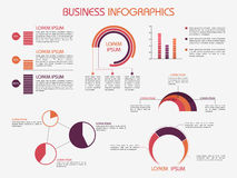 Collection of business infographics elements. Royalty Free Stock Photo