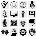Business, management ,isocial media icons set Stock Image