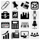 Business & Office icons Royalty Free Stock Photo