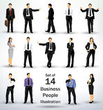 Collection of business people Royalty Free Stock Photo