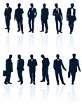 Collection of business people. Royalty Free Stock Photography
