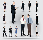 Collection of business people illustrations Stock Photo