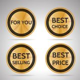 Collection of business stickers Royalty Free Stock Image