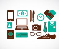 Collection of business travel icons. Vector illustration Stock Image