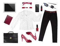 Collection of business woman's elegant accesories Royalty Free Stock Photo