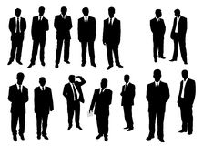 Collection of businessman Stock Photo