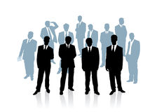 Collection of businessman. Vector illustration Stock Photography