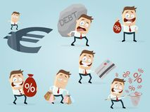 Businessman in different situations. Collection of a businessman in different situations royalty free illustration
