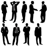 Collection of businessmen Royalty Free Stock Photos