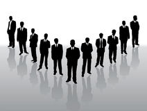 Collection of  businessmen in black Stock Image