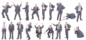 Collection of businessmen poses Stock Photo