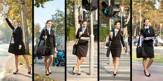 Collection of businesswoman Stock Image