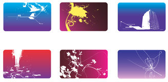 Collection of bussiness card o Stock Image