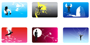 Collection of bussiness card o Royalty Free Stock Image