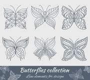 Collection of butterflies for design Royalty Free Stock Photos