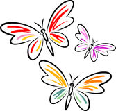 Collection Of Butterfly. Background and  design Royalty Free Stock Photo