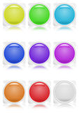 Collection of buttons Royalty Free Stock Photos