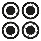 Collection of 4  buttons with rounded arrows Royalty Free Stock Photos